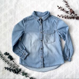 Zara Girl Denim Button Down